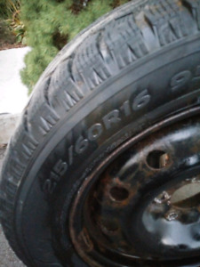 Hankook winter tires with rims 215/60R16