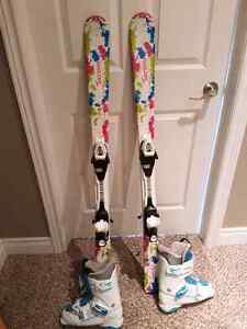 Girls Skis, Binding and Boots
