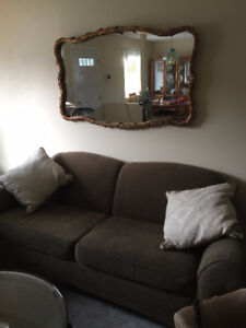 Large Crystal Glass Mirror