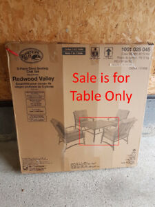 Brand new in box Hampton Bay Outdoor Metal Coffee Table