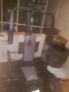 Weider home gym and dumbells
