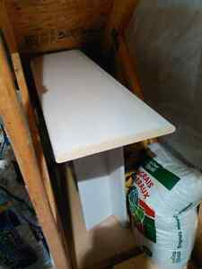 Table d'appoint, désserte en stratifie blanc