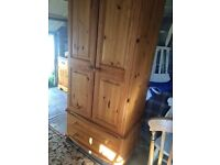 Solid Pine Wardrobe ( Can Deliver)