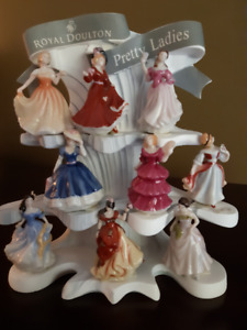 "A Rare Find~ ""Royal Doulton, Pretty Ladies"" Miniature Figurines"