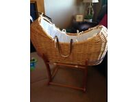 Absolutely stunning Mothercare Moses basket with stand - Excellent condition