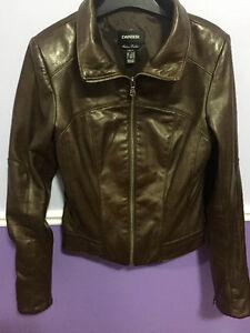 Brown Danier Italian Lamb Leather Women's Leather Jacket!