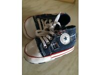 Baby boy converse style high tops