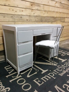 Pretty Grey Desk/Vanity - Delivery