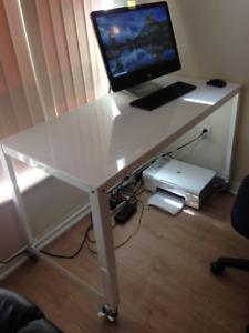 CB2 Go-Cart White Rolling Desk
