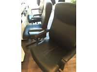 3 black office chairs from IKEA