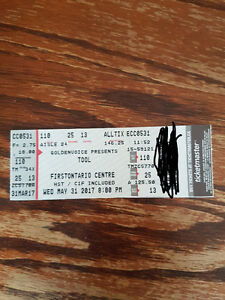 1 Tool Concert ticket in Hamilton for sale