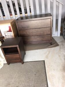 Brown Solid Wood Dresser & Night Stand $800 new.