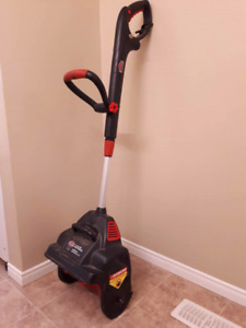Electric snow thrower $10