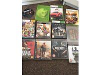 PS3 7 games & 8 X BOX 360 games