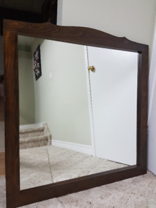 SOLID WOOD FRAME WITH MIRROR