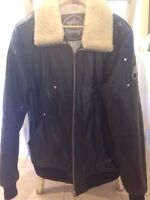 Moose Knuckles Leather Winter Jacket size L like new!!