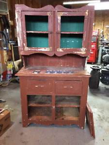 Antique kitchen bakers rack project.