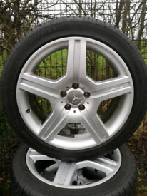 19 inch genuine AMG alloys and tyres