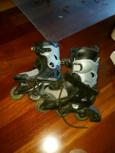 Kids rollerblades adjustable 10J to 13J