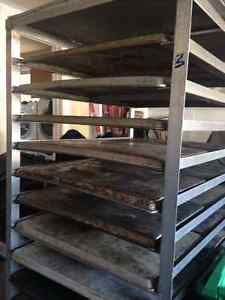 """Aluminum Bakery Double Rack Holds About Thirty 18"""" x 26"""" Trays"""