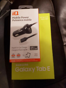 Samsung Galaxy Tab E - BRAND NEW SEALED IN BOX with car charger