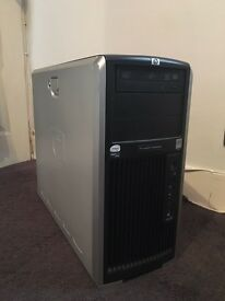HP XW8600 workstation server pc quad core 32gb 1tb HDD