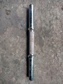 Single steel dumbbell bar