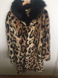 Leopard print coat size small