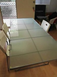 Glass dining table Homebush Strathfield Area Preview