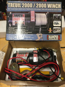 2000LBS champion power winch in brand new condition. Never used