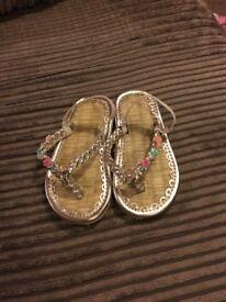 Infant size 7 accessorize sandals
