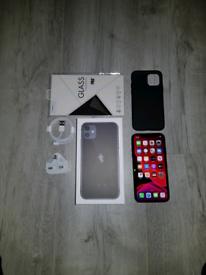 Iphone 11 Bundle EE 64GB Black I Phone Eleven
