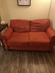 Red Love Seat Couch