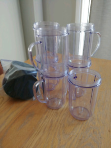7 Magic Bullet Cups & Lids