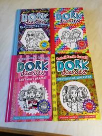 Four Dork Diaries hardback books