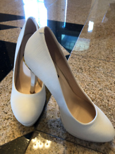 New women high heel white shoes