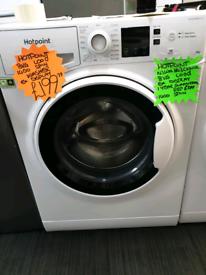 White hotpoint 8kg load washing machine
