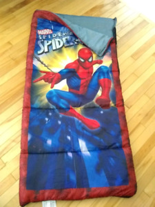 Spider-Man sleeping bag.