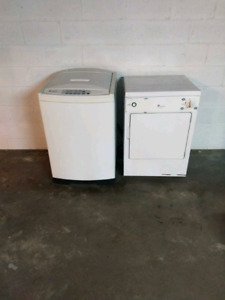 GE Spacemaker washer and dryer with sink hookup