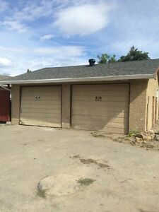 Double garage with parking for lease