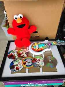 New Tickle Me Elmo with Elmo Guitar and 6 Elmo DVD's