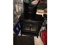 Electric stove with scuttle bucklet
