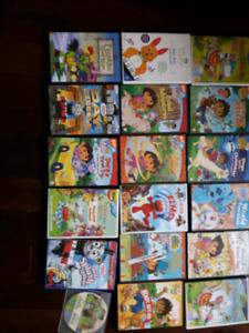 18 DVD Kids Videos for sale.