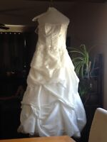 Beautiful strapless wedding gown
