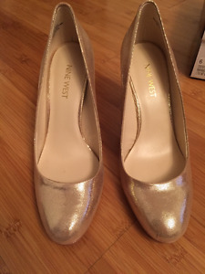 Gold Nine West Pumps - Size 6 - Worn once; perfect condition
