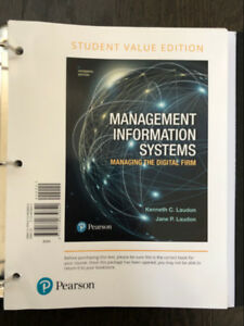 Management Information Systems 15th Edition (BINDER INCLUDED)