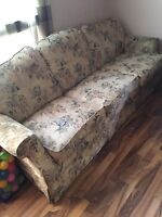 Floral pattern couch.