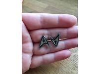 STAR TREK Starfleet Insignia Cufflinks / Cuff Links