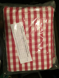 Picnic basket Red and white gingham fabric - 6 metres