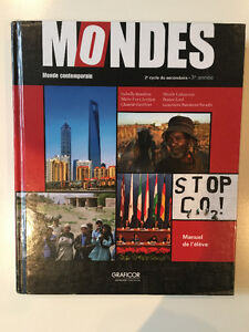 Mondes - Manuel de monde contemporain - 2e cycle du secondaire